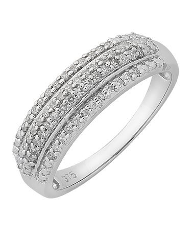 Diamond Ring - 9ct White Gold Diamond Ring - 765924