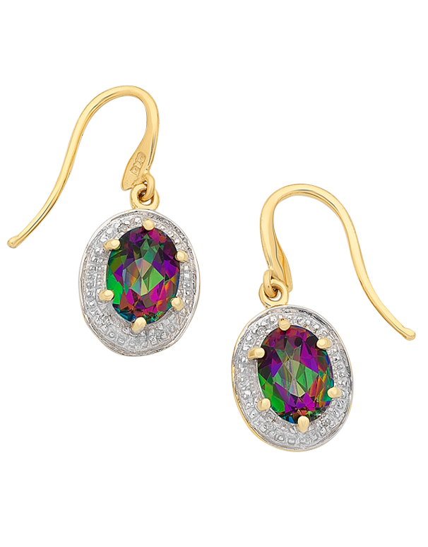 Mystic Topaz Earrings - 9ct Yellow Gold Mystic Topaz Earrings - 765983 - Salera's