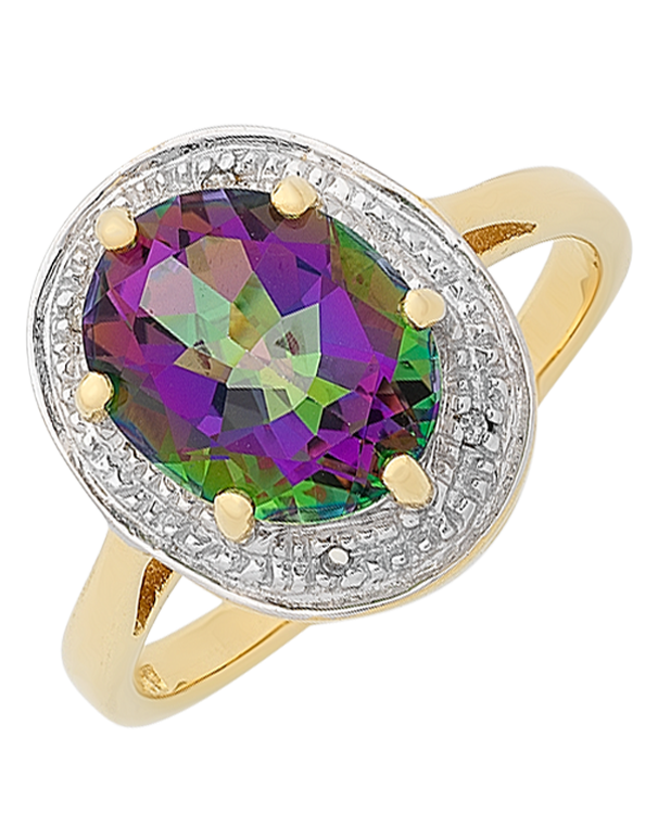 Mystic Topaz Ring - 9ct Yellow Gold Mystic Topaz Ring  - 765987 - Salera's