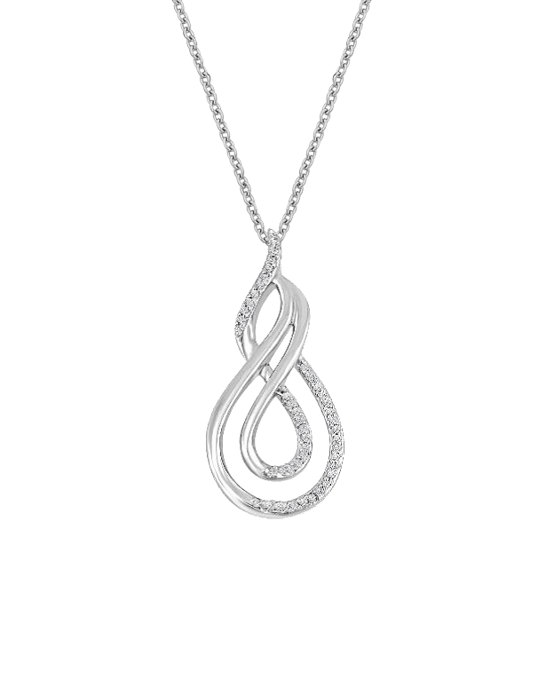 Diamond Necklace - White Gold Diamond Necklace - 765992 - Salera's Melbourne, Victoria and Brisbane, Queensland Australia