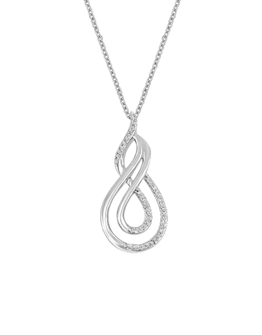 Diamond Necklace - White Gold Diamond Necklace - 765992