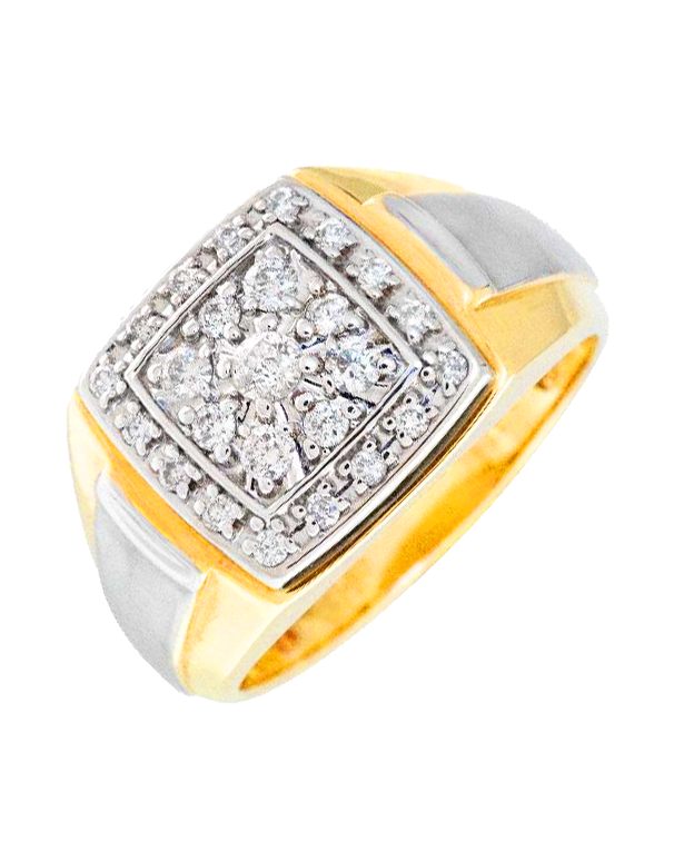 Men's Ring - Two Tone Diamond Set Ring - 765993 - Salera's Melbourne, Victoria and Brisbane, Queensland Australia