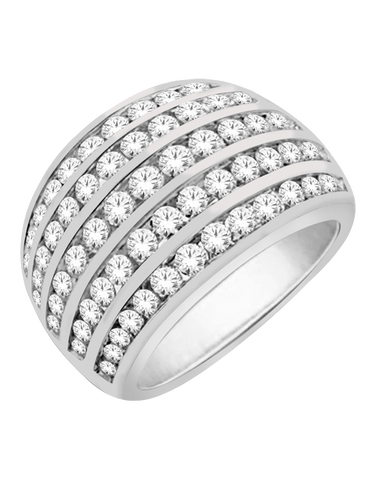 Diamond Ring - 9ct White Gold Diamond Ring - 766047