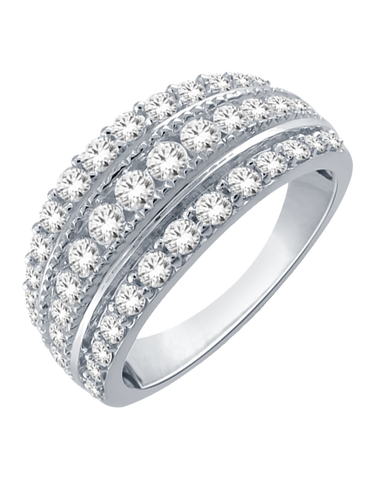 Diamond Ring - 9ct White Gold Diamond Ring - 766048