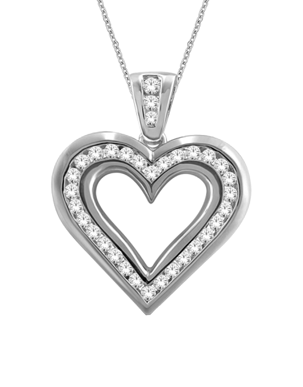 Diamond pendant white gold diamond heart pendant 766050 saleras aloadofball