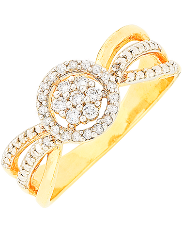Diamond Ring - 9ct Yellow Gold Diamond Ring - 766078