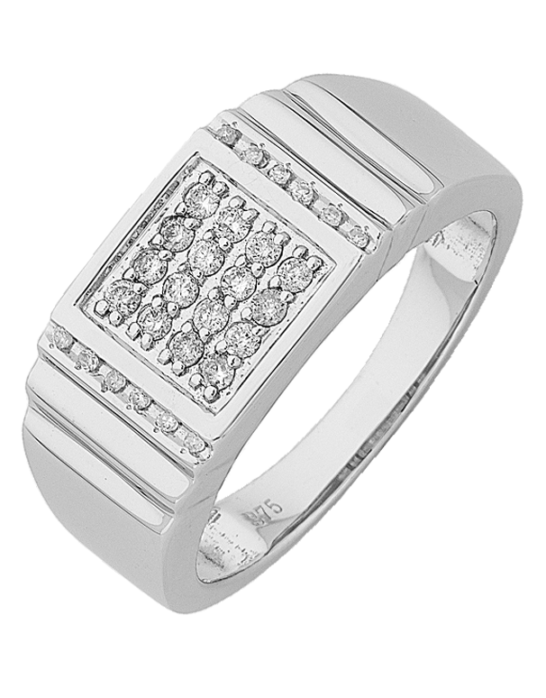 Salera's Men's Ring - White Gold Diamond Set Ring - 766148