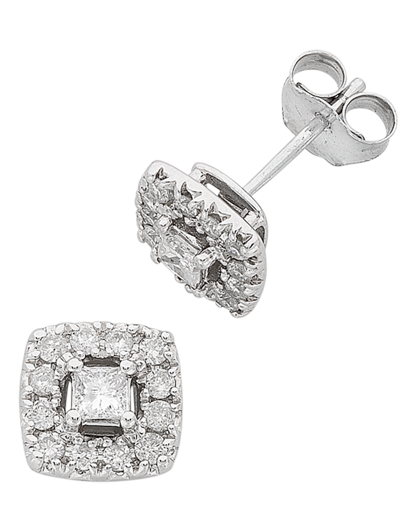 Diamond Studs - 0.50ct White Gold Diamond Studs - 766177 - Salera's Melbourne, Victoria and Brisbane, Queensland Australia - 1