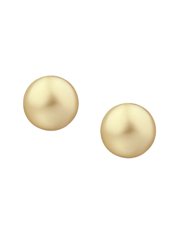 Pearl Earrings - South Sea Golden Pearl Studs on Yellow Gold - 766235