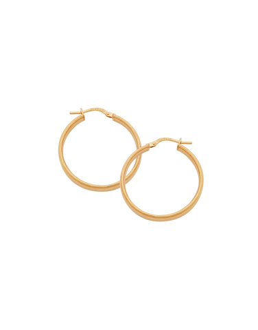 Gold Fusion Earrings - Rose Gold Hoop Earrings - 766606