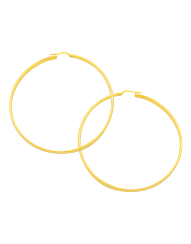 Gold Fusion Earrings - Yellow Gold Hoop Earrings - 766610