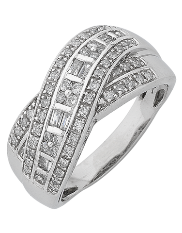 Diamond Ring - White Gold Diamond Dress Ring  - 767234