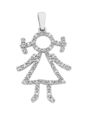 Diamond Pendant - White Gold Diamond Pendant - 767240