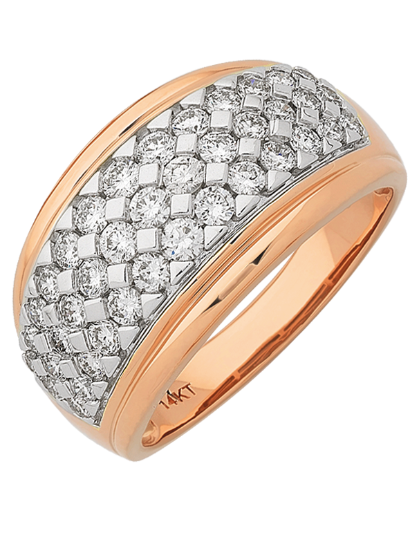 Diamond Ring - 14ct Rose Gold Diamond Ring - 767634 - Salera's