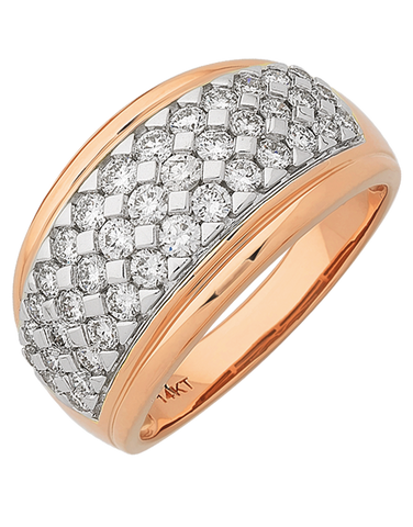 Diamond Ring - 14ct Rose Gold Diamond Ring - 767634