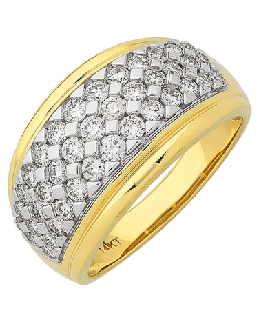 Diamond Ring - 14ct Yellow Gold Diamond Ring - 767635