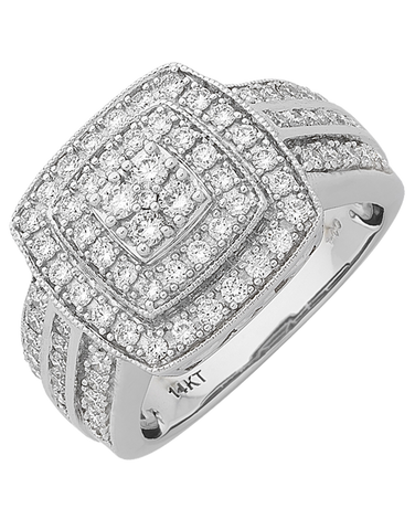 Diamond Ring - White Gold Diamond Ring - 767636