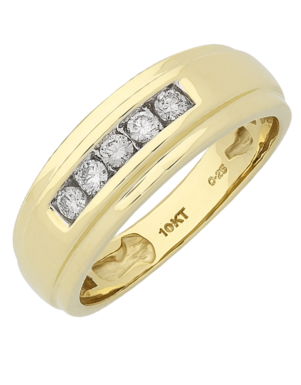 Men S Ring Yellow Gold Diamond Ring 767642 Salera S