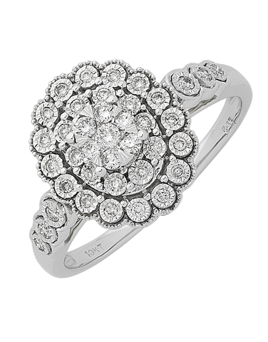 Diamond Ring - White Gold Diamond Ring - 767645