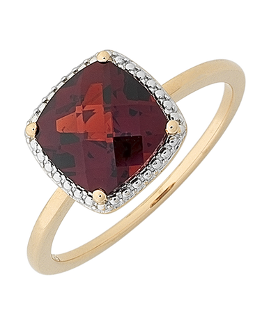 Garnet Ring - 9ct Rose Gold Garnet Ring - 768292