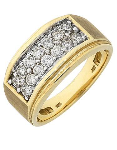 Men's Ring - Yellow Gold Diamond Ring - 768319