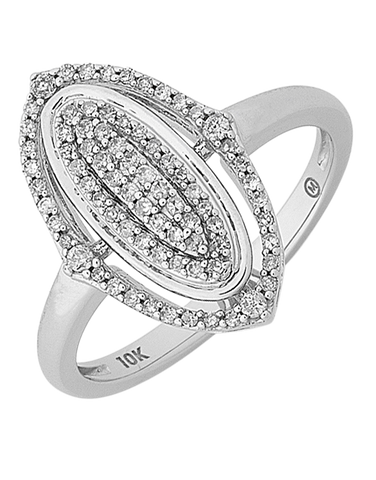 Diamond Ring - White Gold Diamond Ring - 768395