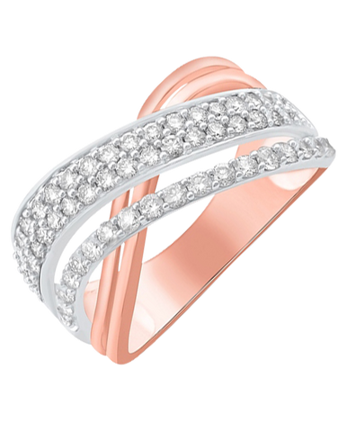 Diamond Ring - 14ct Rose Gold Diamond Ring - 768490