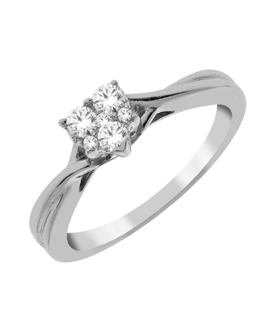 Diamond Ring - White Gold Diamond Ring - 768584