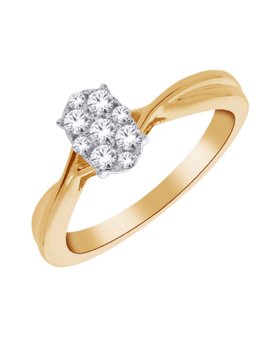 Diamond Ring - Yellow Gold Diamond Ring - 768599