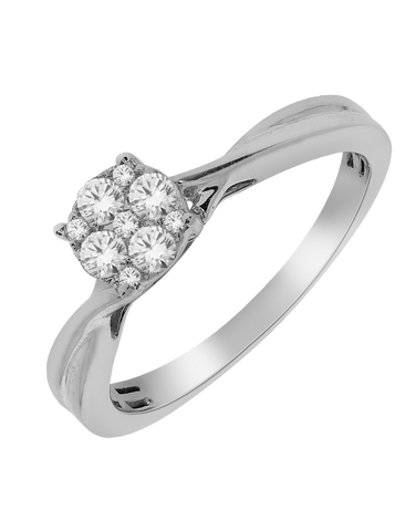 Diamond Ring - White Gold Diamond Ring - 768600