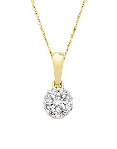 Diamond Pendant - Two Tone Gold Diamond Pendant - 769108