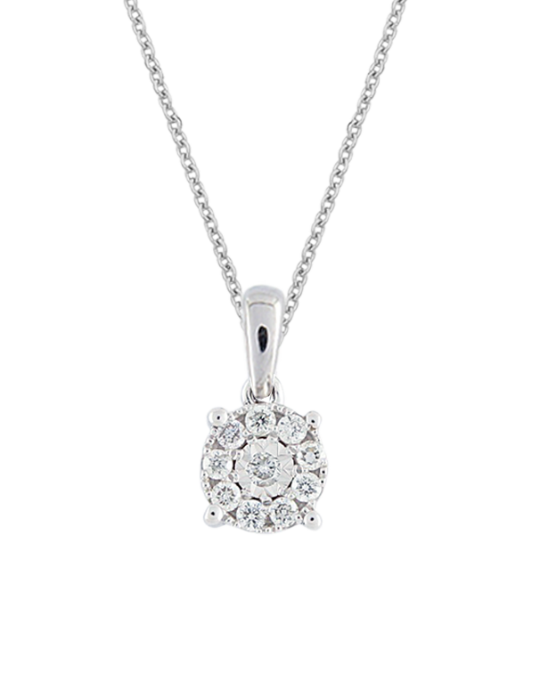 Diamond Pendant - White Gold Diamond Pendant  - 769110