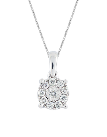 Diamond Pendant - White Gold Diamond Pendant  - 769111