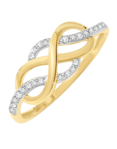 Diamond Ring - 9ct Two Tone Diamond Ring - 769113
