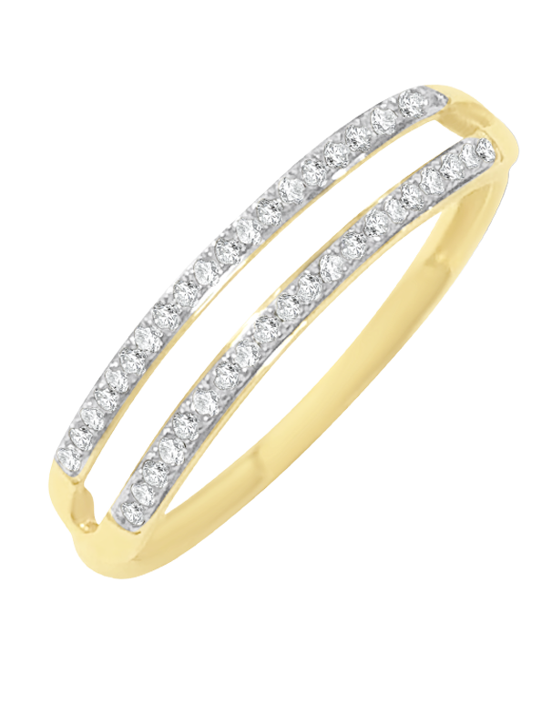 Diamond Ring - 9ct Two Tone Diamond Ring - 769114 - Salera's