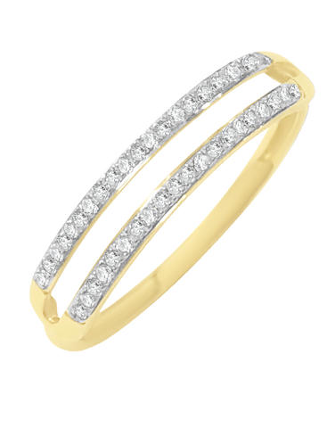 Diamond Ring - 9ct Two Tone Diamond Ring - 769114