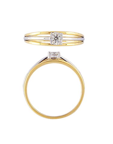 Diamond Ring - 9ct Yellow Gold Diamond Ring - 769116