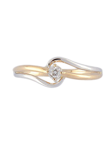 Diamond Ring - 9ct Two Tone Gold Diamond Ring - 769135