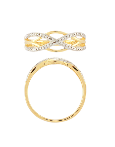 Diamond Ring - 9ct Yellow Gold Diamond Ring - 769136
