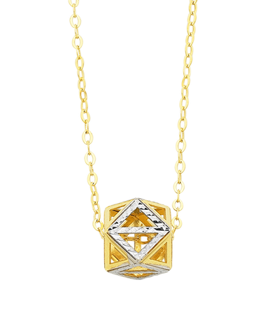 Gold Necklace - Two Tone Gold Necklet - 769424
