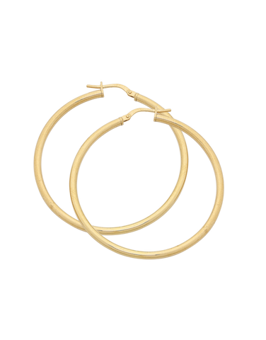 Gold Earrings - 9ct Yellow Gold Hoop Earrings - 769427