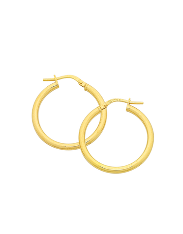 Gold Earrings - 9ct Yellow Gold Hoop Earrings - 769439