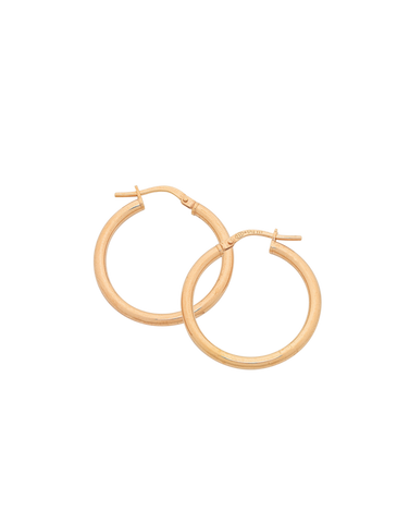 Gold Earrings - 9ct Rose Gold Hoop Earrings - 769440