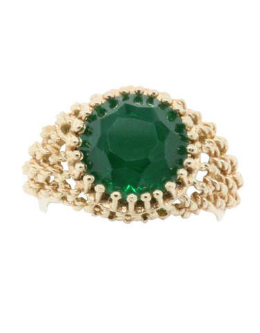 Heritage Collection - 14ct Yellow Gold Created Emerald Ring - 769752