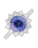 Tanzanite Ring - 18ct White Gold Tanzanite & Diamond Ring - 770361 - Salera's