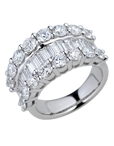 Diamond Ring - White Gold Diamond Dress Ring - 770385
