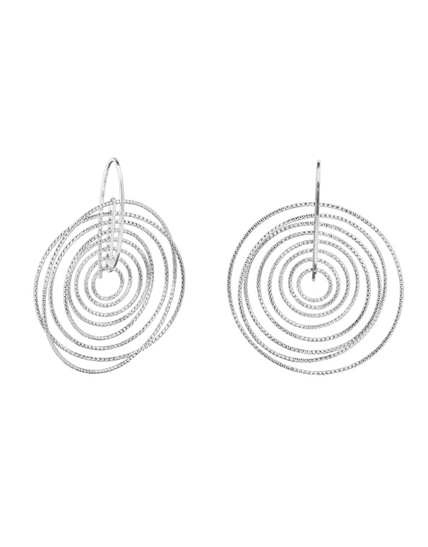 Luna - Sterling Silver Round Hook Earrings - 770550 - Salera's