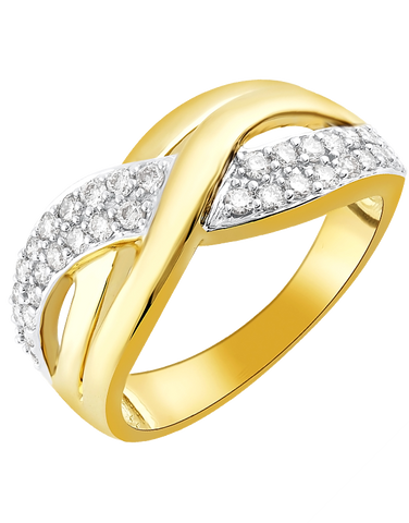 Diamond Ring - 10ct Yellow Gold Diamond Dress Ring - 770710