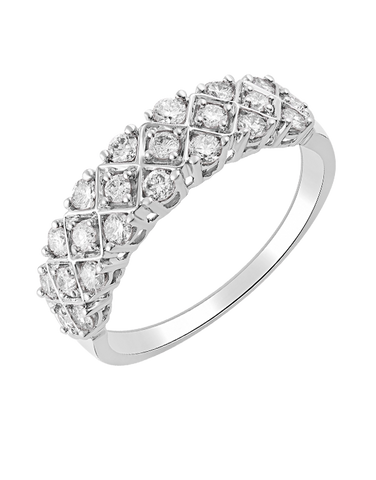 Diamond Ring - 14ct White Gold Diamond Ring - 770713