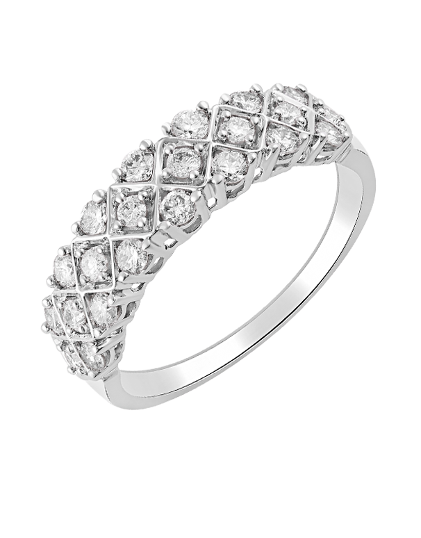Diamond Ring - 14ct White Gold Diamond Ring - 770712 - Salera's